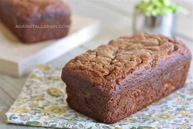 Almond Flour Zucchini Bread displayed in home kitchen