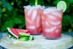 Watermelon Margarita (Paleo & Refined Sugar-Free)
